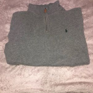 Polo Ralph Lauren Gray and green 1/4th zip up